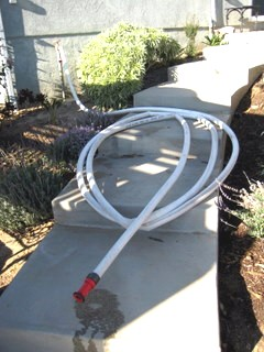 Coiled and FIRE READY just like your garden hose!